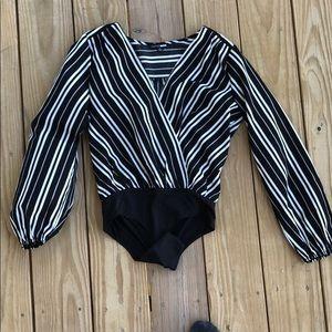 Striped Longsleeve Bodysuit